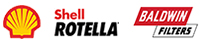 Shell RORTELLA Logo and Baldwin Filters Logo