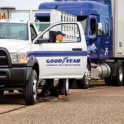 Goodyear CTSC on road assisting truck